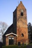Iglesia de la azotea de montura del Frisian Foto de archivo libre de regalías