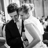 Iglesia de la boda Fotos de archivo