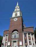 Iglesia de la calle del parque Fotografía de archivo
