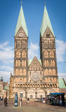 Iglesia de la catedral (Bremer Sankt Petri Dom) en Bremen, Alemania fotografía de archivo libre de regalías