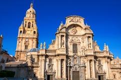 Iglesia de la catedral de St Mary en Murcia, España Imágenes de archivo libres de regalías
