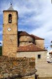 Iglesia de la catedral del Romanesque en Hecho Aragon Fotos de archivo libres de regalías
