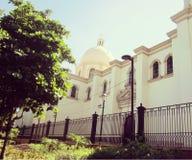 Iglesia de la catedral en la ciudad de Culiacán, México Foto de archivo libre de regalías