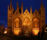 Iglesia de la catedral en la noche Fotografía de archivo libre de regalías