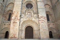 Iglesia de la catedral en Siguenza; Guadalajara Foto de archivo