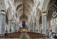 Iglesia de la catedral de San Pedro en Exeter imagenes de archivo