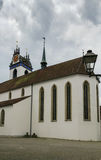 Iglesia de la ciudad de Aarau Fotos de archivo