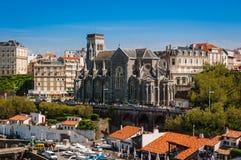 Iglesia de la ciudad de Biarritz, Francia Foto de archivo