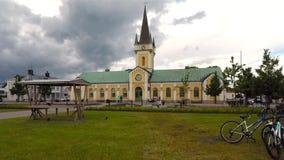 Iglesia de la ciudad de Borgholm metrajes