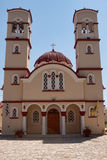 Iglesia de la ciudad en Georgioupolis, Creta, Grecia Fotos de archivo libres de regalías