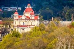 Iglesia de la ciudad de Vilna fotografía de archivo
