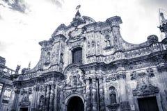 Iglesia de la Compania de Jesús en Quito, Ecuador Fotografía de archivo