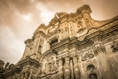 Iglesia de la Compania de Jesus em Quito, Equador Foto de Stock