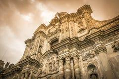 Iglesia de la Compania de Jesus i Quito, Ecuador Arkivfoto