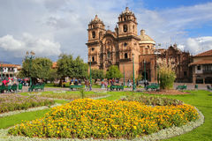 Iglesia de la Compania de Jesus on Plaza de Armas in Cusco, Peru Royalty Free Stock Photography