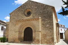 Iglesia de la cruz santa de Baeza foto de archivo