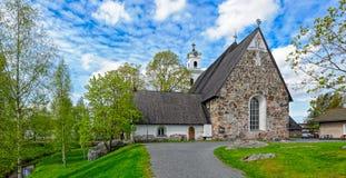 Iglesia de la cruz santa en Rauma, Finlandia Foto de archivo