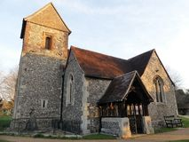 Iglesia de la cruz santa, Sarratt, Hertfordshire fotografía de archivo