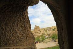 Iglesia de la cueva en Cappadocia Fotografía de archivo libre de regalías