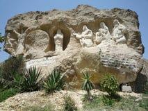Iglesia de la cueva en El Cairo Fotos de archivo