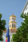 Iglesia de la encarnación, ciudad vieja de Marbella, España foto de archivo libre de regalías
