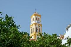 Iglesia de la encarnación, ciudad vieja de Marbella, España fotografía de archivo libre de regalías