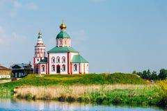 Iglesia de la iglesia de Elijah The Prophet Or Elias en Suzdal, Rusia Fotografía de archivo