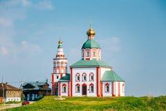 Iglesia de la iglesia de Elijah The Prophet Or Elias - iglesia en Suzdal, Imagen de archivo