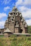 Iglesia de la intercesión de la Virgen María bendecida, un monumento único de la arquitectura de la iglesia de la arquitectura de Imagen de archivo
