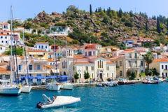 Iglesia de la isla de Poros - Grecia Imágenes de archivo libres de regalías