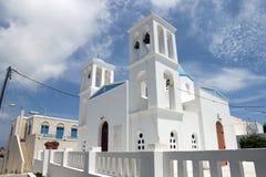 Iglesia de la isla de Schinoussa fotos de archivo libres de regalías