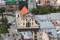 Iglesia de la jesuita en Lviv, Ucrania imágenes de archivo libres de regalías