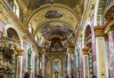 Iglesia de la jesuita, Viena fotos de archivo
