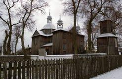 Iglesia de la madera de construcción Foto de archivo libre de regalías