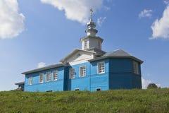 Iglesia de la madre de dios de la muestra en el abedul de Slobodka, distrito de Nyuksensky, región de Vologda Fotos de archivo