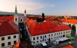 Iglesia de la marca del St, Zagreb Croacia imagen de archivo