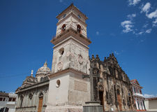 Iglesia de La Merced. The Iglesia de La Merced Church with it's famous bell tower in Granada, Nicaragua, 5 Mar 2016 Stock Images