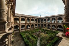 Convent of Our Lady of Mercy Iglesia de La Merced in Cusco, Peru. The Iglesia de La Merced is situated in Cusco stock photography
