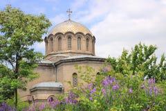 Iglesia de la natividad de la Virgen María Blessed en la ciudad de Vanadzor fotos de archivo