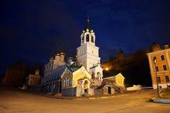Iglesia de la opinión de la noche de la natividad de San Juan Bautista imagen de archivo