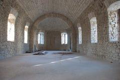 Iglesia de la piedra bajo construcción Fotos de archivo
