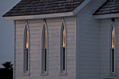 Iglesia de la pradera del país Fotografía de archivo
