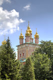 Iglesia de la puerta de St John Baptist Holy Trinity St Sergius Lavra imágenes de archivo libres de regalías
