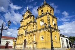 Iglesia de la Recoleccion en León, Nicaragua Imágenes de archivo libres de regalías