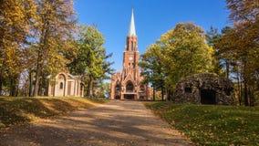 Iglesia de la resurrección de Cristo en Piekary Slaskie Fotos de archivo libres de regalías