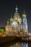 Iglesia de la resurrección en St Petersburg (salvador en la sangre) Fotografía de archivo libre de regalías