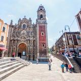 Iglesia de la Santisima Trinidad en Ciudad de México Imagen de archivo libre de regalías