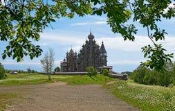 Iglesia de la transfiguración de Kizhi, Rusia Fotografía de archivo libre de regalías