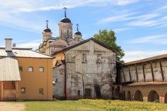 Iglesia de la transfiguración del monasterio de Cyril-Belozersky Fotos de archivo libres de regalías