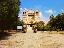 Iglesia de la transfiguración en el soporte Tabor en Israel Foto de archivo libre de regalías